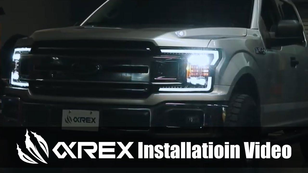 For 17-20 Ford F150 Raptor AlphaRex Pro Series Projector Headlights w// DRL Black