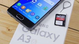 Samsung Galaxy A3 (2016): nanoSIM & microSD einlegen