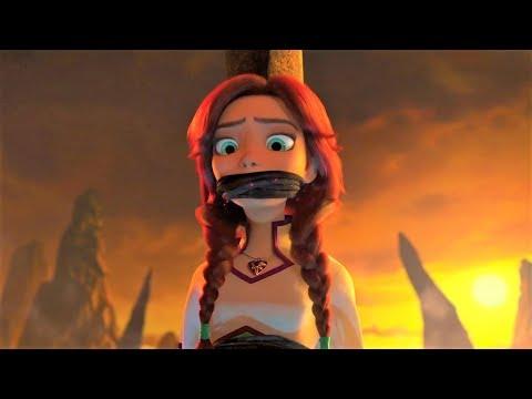 每100年,坏蛋巫师就会抓走热恋中的公主,取走她们爱情的力量