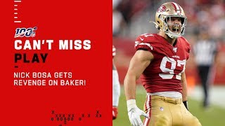 Nick Bosa Plants the Flag on Baker