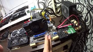 Тест в майнинге MSI Aero gtx 1070  Zcash Ethereum Температура Шум