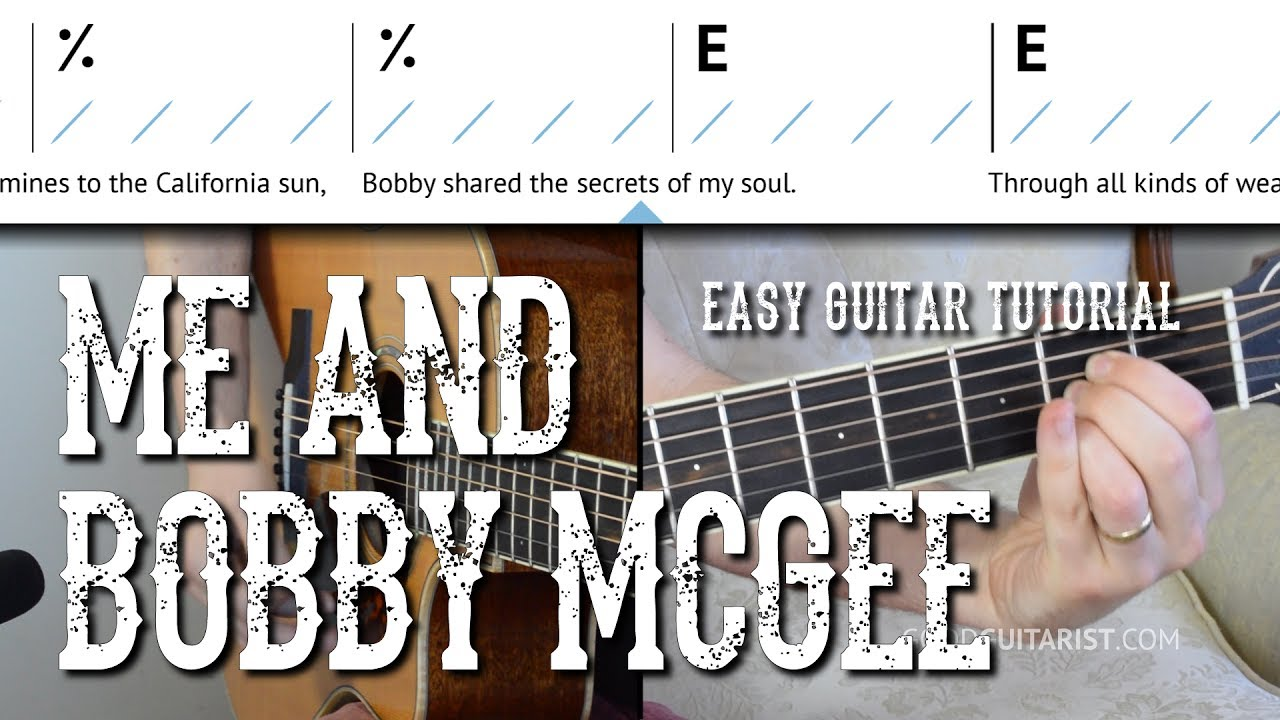 Me And Bobby Mcgee Easy Guitar Tutorial Kris Kristofferson Janis
