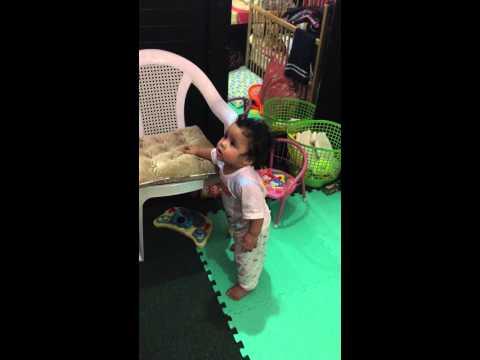 C'mon dance w/ me😜😂 at 10 months..Youki Hanafy