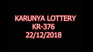 #kerala lottery result 22/12/2018 TODAY RESULT