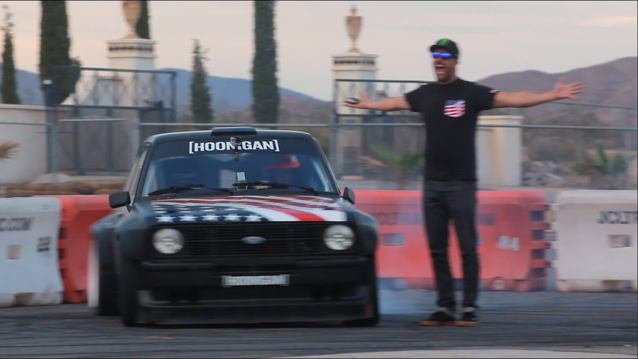 Hoonigan Escort >> [HOONIGAN] Ryan Tuerck gets first go in Ken Block's Gymkhana Escort! - YouTube