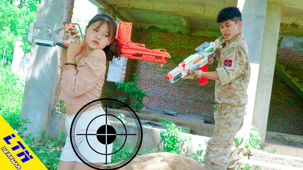 LTN Nerf War : Captain Seal RESCUING SISTER & Delta Force T Nerf Guns Fight Criminal Team
