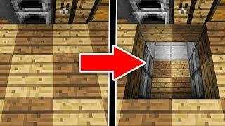 【マインクラフト】地面が開くだと!?絶対にバレない隠しエレベーターの作り方!【…