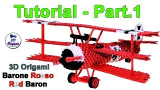 Origami 3d Red Baron Tutorial 1/32 - PART.1