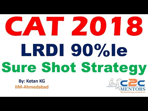 CAT 2018 LRDI 90 Percentile Sure Shot Strategy