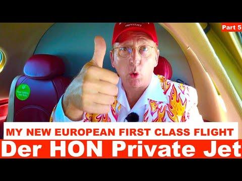 MY NEW EUROPEAN FIRST CLASS FLIGHT 🛩  GlobeAIR Part 5 🛩  Der HON Private Jet