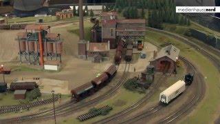 Lokomotiven in Szene gesetzt