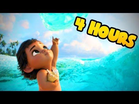 ❤ 4 HOURS ❤ Moana Disney Lullabies for Babies to go to Sleep Music - Songs to go to sleep