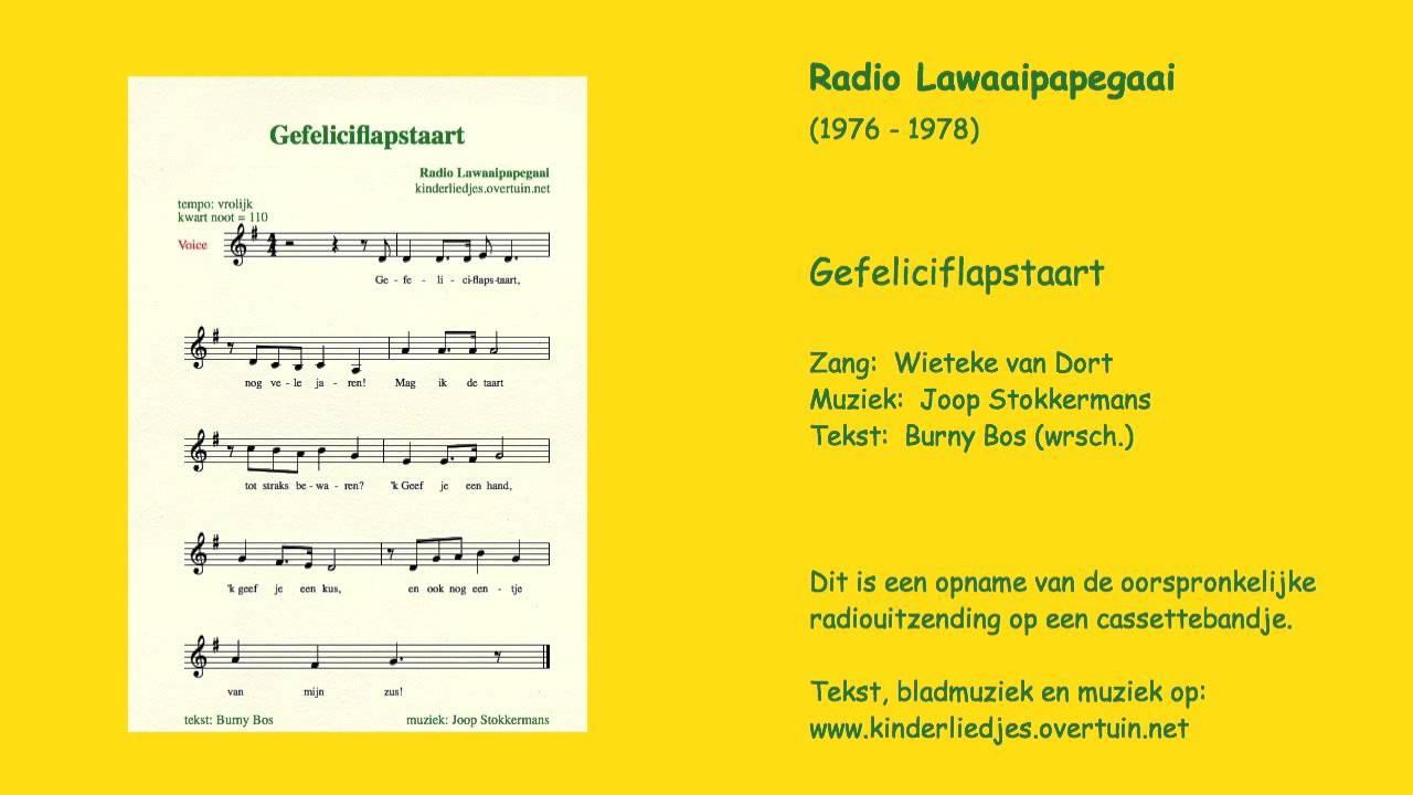 jarig liedje Kinderliedje 'Gefeliciflapstaart'   jarig, liedje, verjaardag  jarig liedje