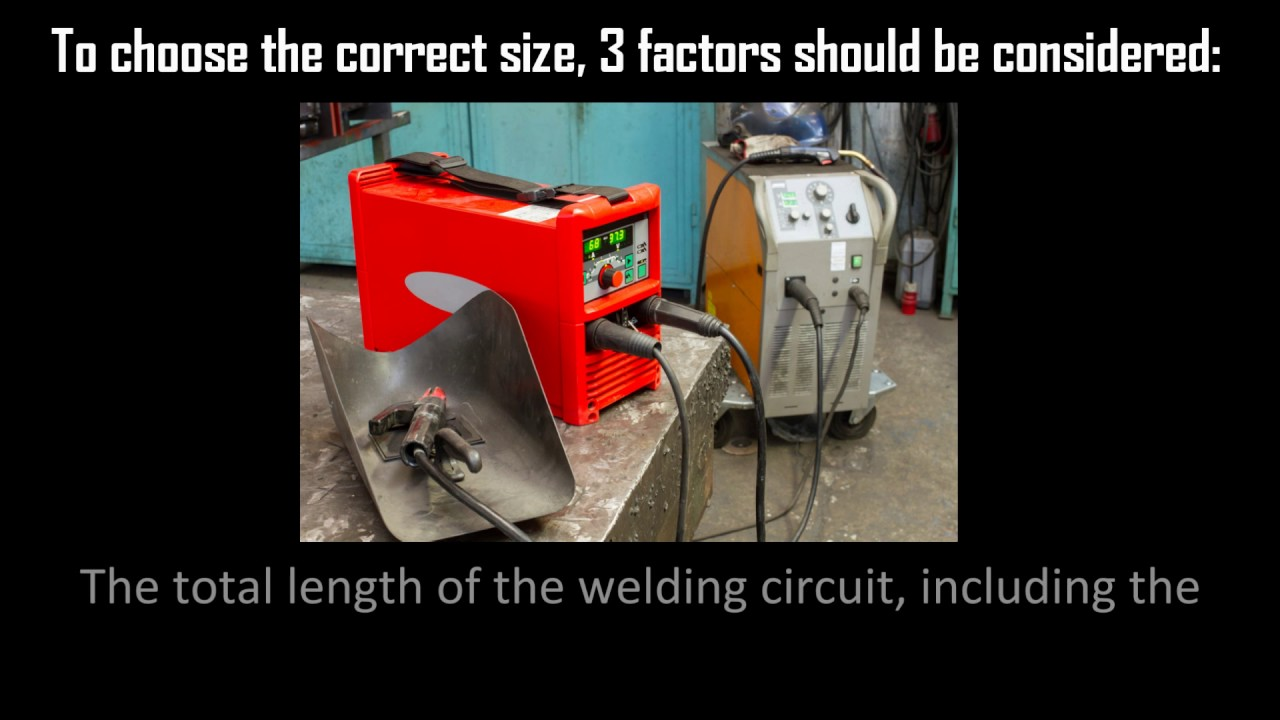 Choosing the Correct Welding Cable - YouTube