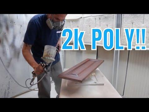 Cabinet Refinishing Using 2K Poly