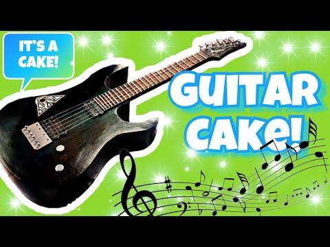 electric guitar cake tutorial youtube. Black Bedroom Furniture Sets. Home Design Ideas