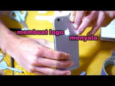 Cara membuat logo iphone menyala