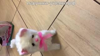 игрушки кошка ходит от хлопка