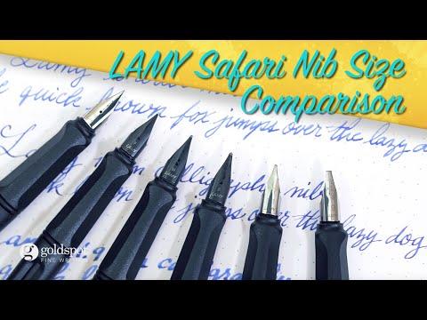 Lamy Safari Fountain Pen Nib Size Comparison Youtube