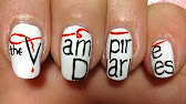 The vampire diaries nail art tutorial damon salvatoreian 410 prinsesfo Gallery