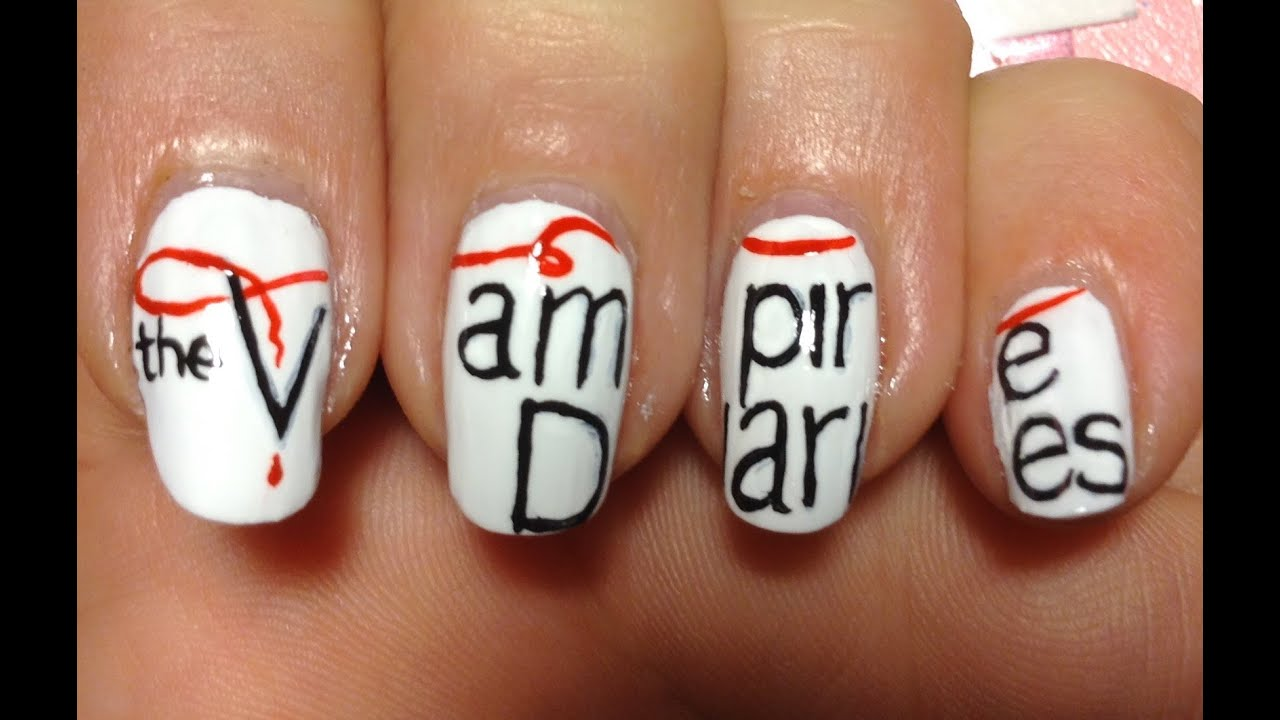 Vampire Diaries Nail Art Tutorial Request Youtube