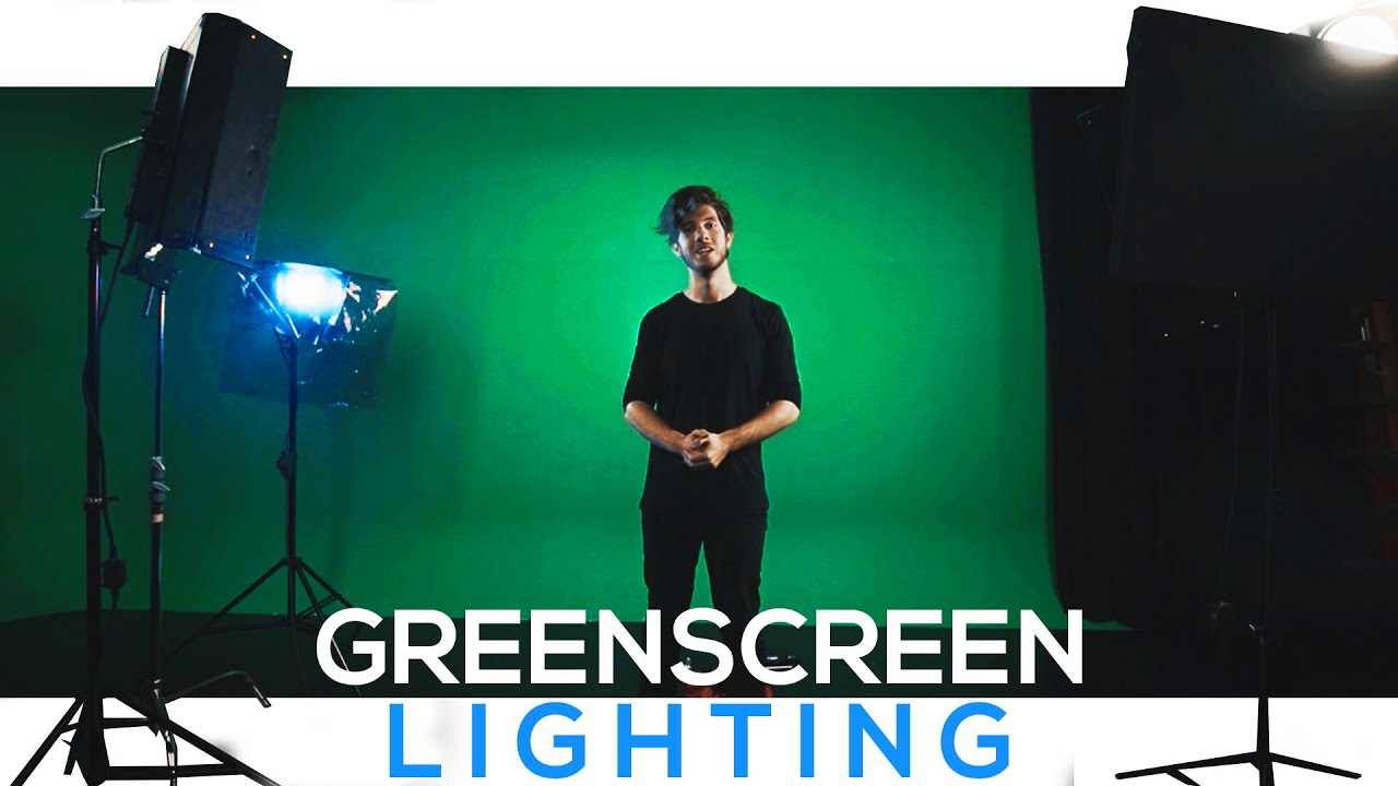 How To Light Your Green Screen for Great Keying Results - LIGHTING TUTORIAL