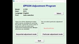 Download Reset Epson L1110 Epson L1110 Adjustment Program 100 Ok MP3