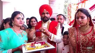 Best Punjabi wedding Ribbon cutting Ceremony with Bride  +91 98 158 75 245