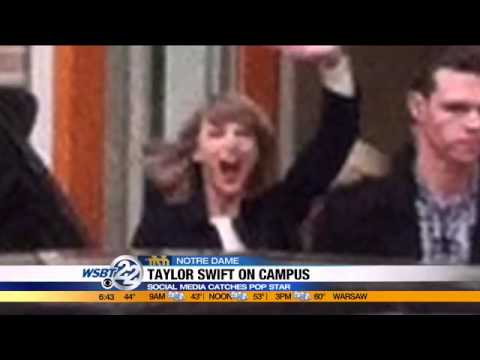 Taylor Swift visits Notre Dame to see brother's play