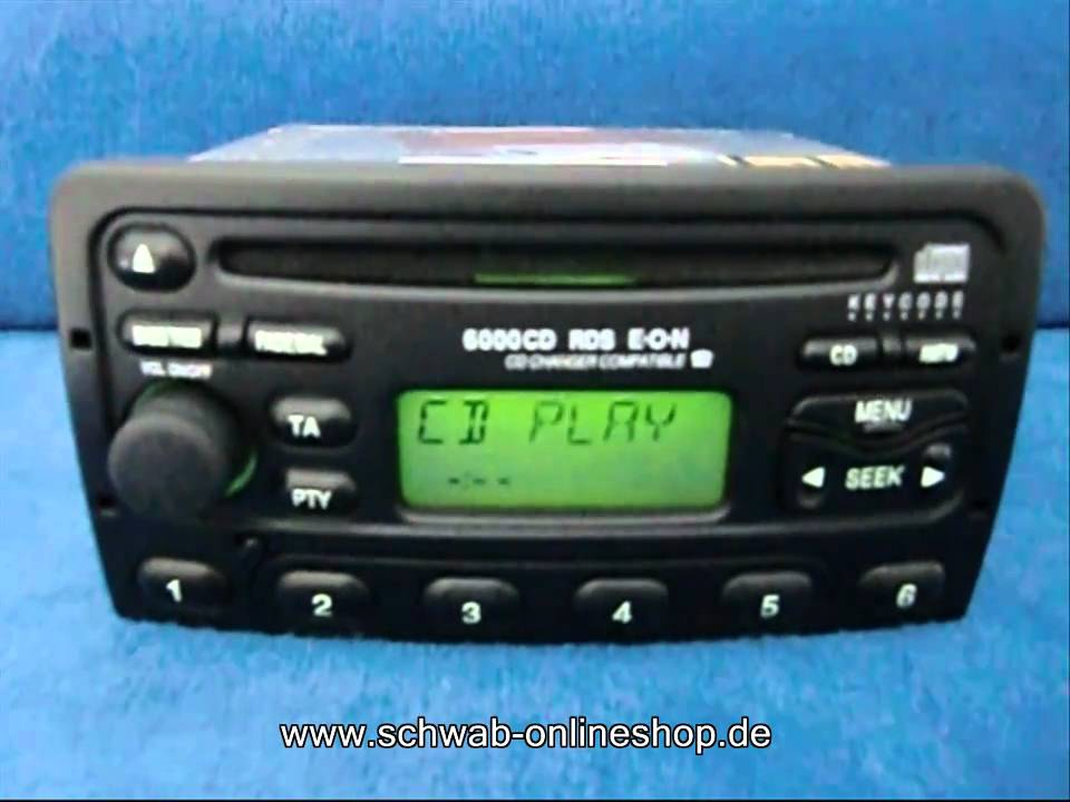 ford 6000 cd carradio car radio autoradio decode encode. Black Bedroom Furniture Sets. Home Design Ideas