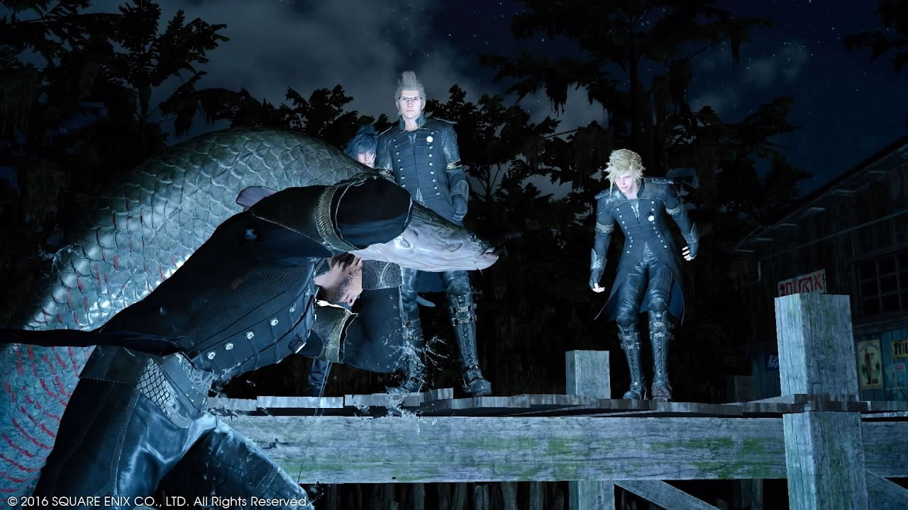 Final fantasy 15 catching the liege of the lake for Final fantasy 15 fishing