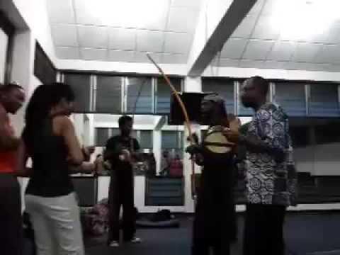 Dr. Ọbádélé Kambon leads Capoeira songs in various Afrikan languages