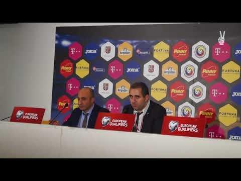Artur Petrosyan press conference after Romania - Armenia | Արթուր Պետրոսյանի հետխաղյա ասուլիսը
