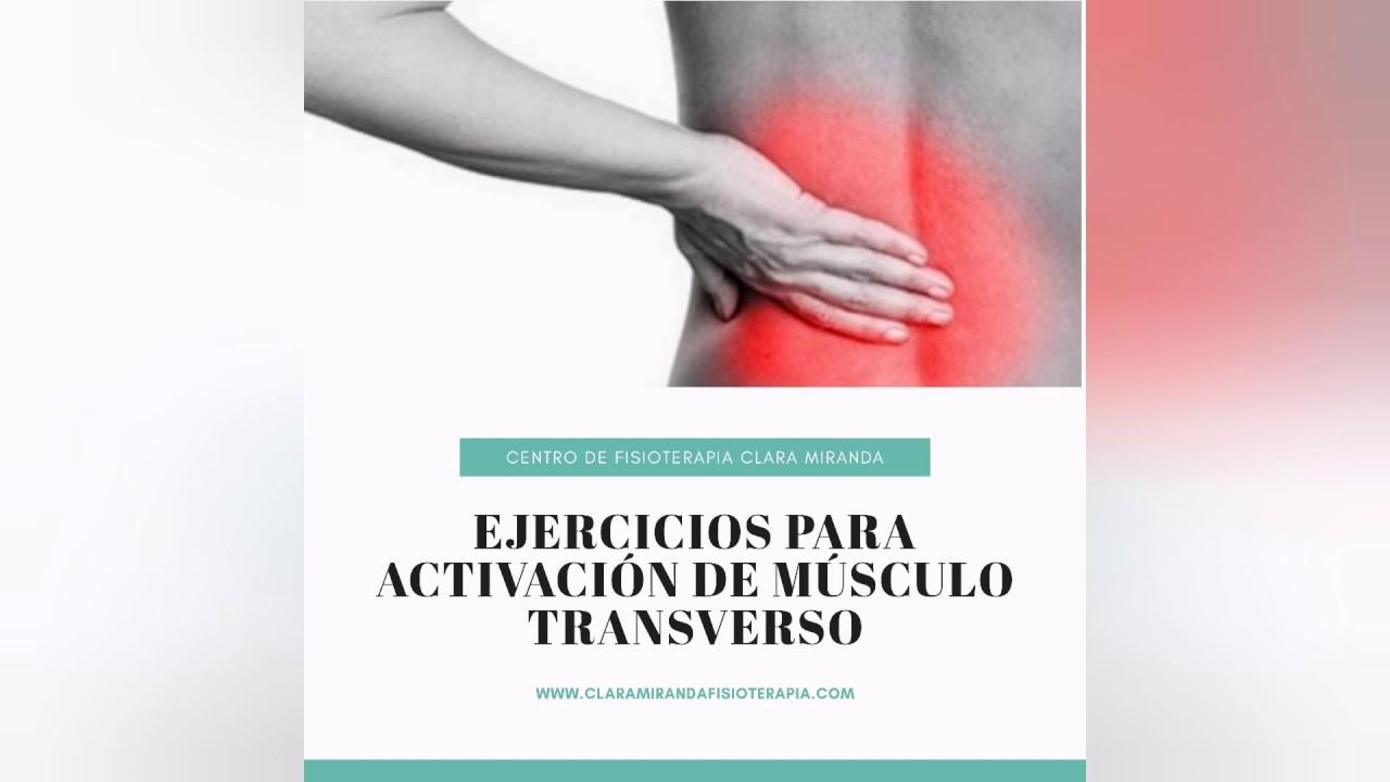 Ejercicios para lograr la  activación de músculo transverso del abdomen