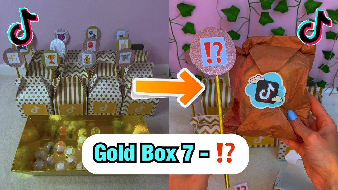 Download TikTok Mystery GOLD Boxes - Box 7!⁉️ *ASMR* #Shorts