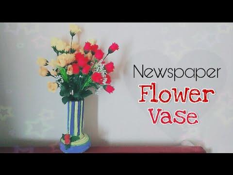How to make flower vase from newspaper diy paper crafts easy how to make flower vase from newspaper diy paper crafts easy flower pot mightylinksfo