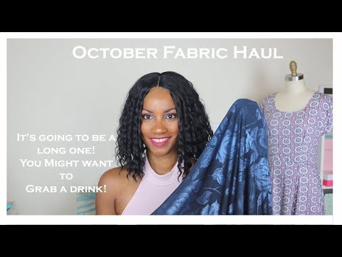 October 2017| Fabric Haul Pt.1 | RunningNStyle