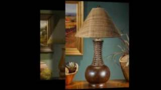 Wood Table Lamps