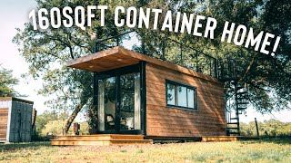 160sqft Shipping Container Home W/rooftop Patio   Full Airbnb Tiny House Tour!