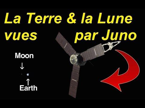 TERRE PLATE - ITV et l'orbite de la Lune autour de la terre vue par la sonde Juno !!!!