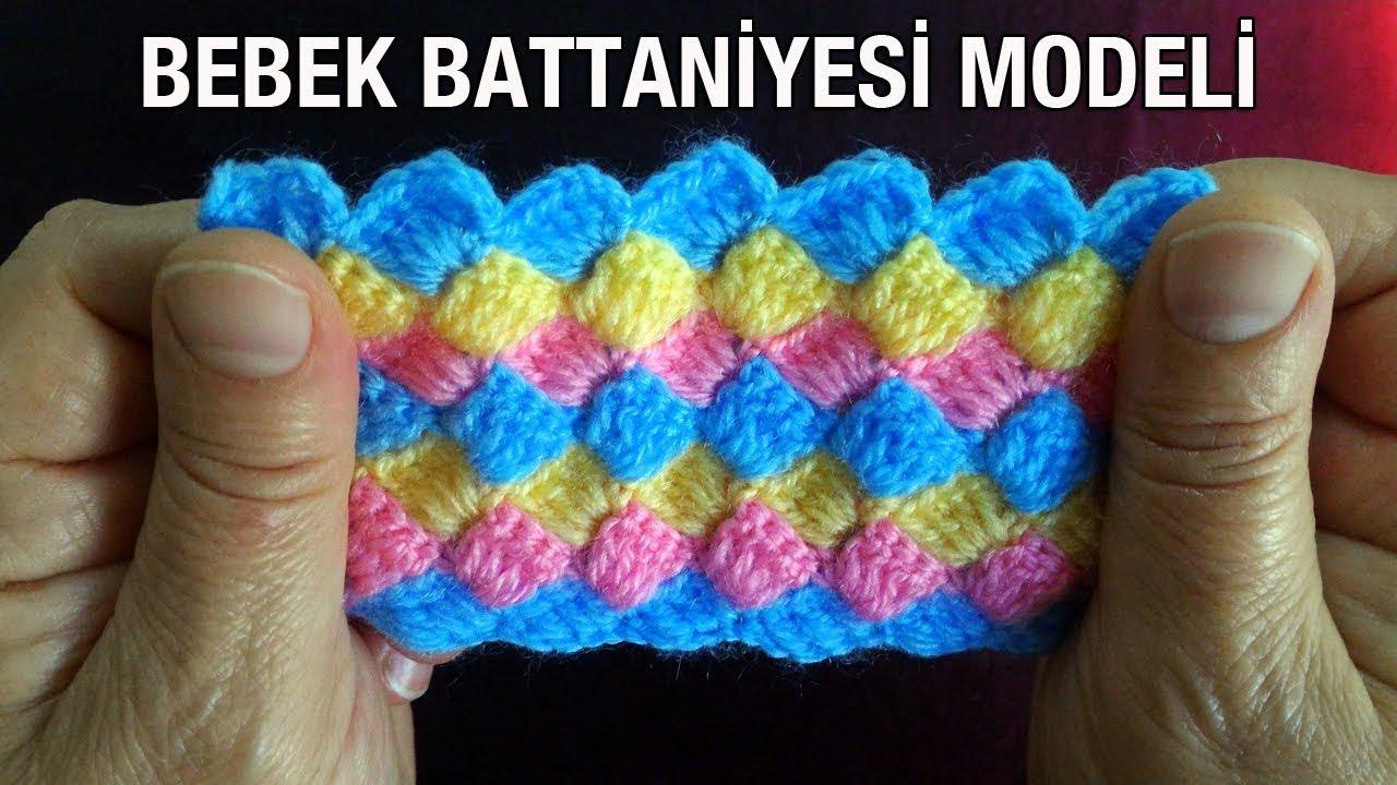 Popcorn Dondurma Modeli Bebek Battaniyesi Yapımı Anlatımlı Türkçe Videolu