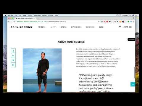 Tony Robbins DISC training - YouTube - tony robbins disc