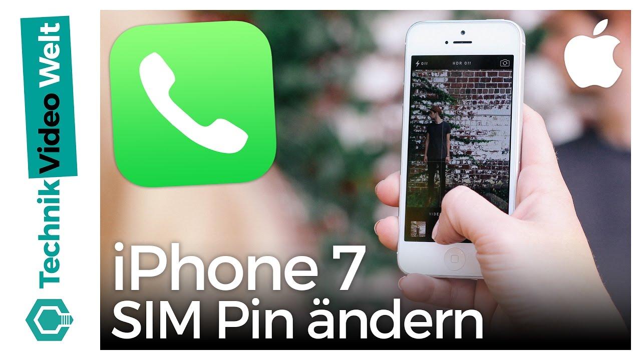 Pin Der Sim Karte ändern.Iphone 7 Sim Pin ändern Und Deaktivieren