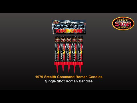 Bright Star Fireworks - 1979 Stealth Command Roman Candles