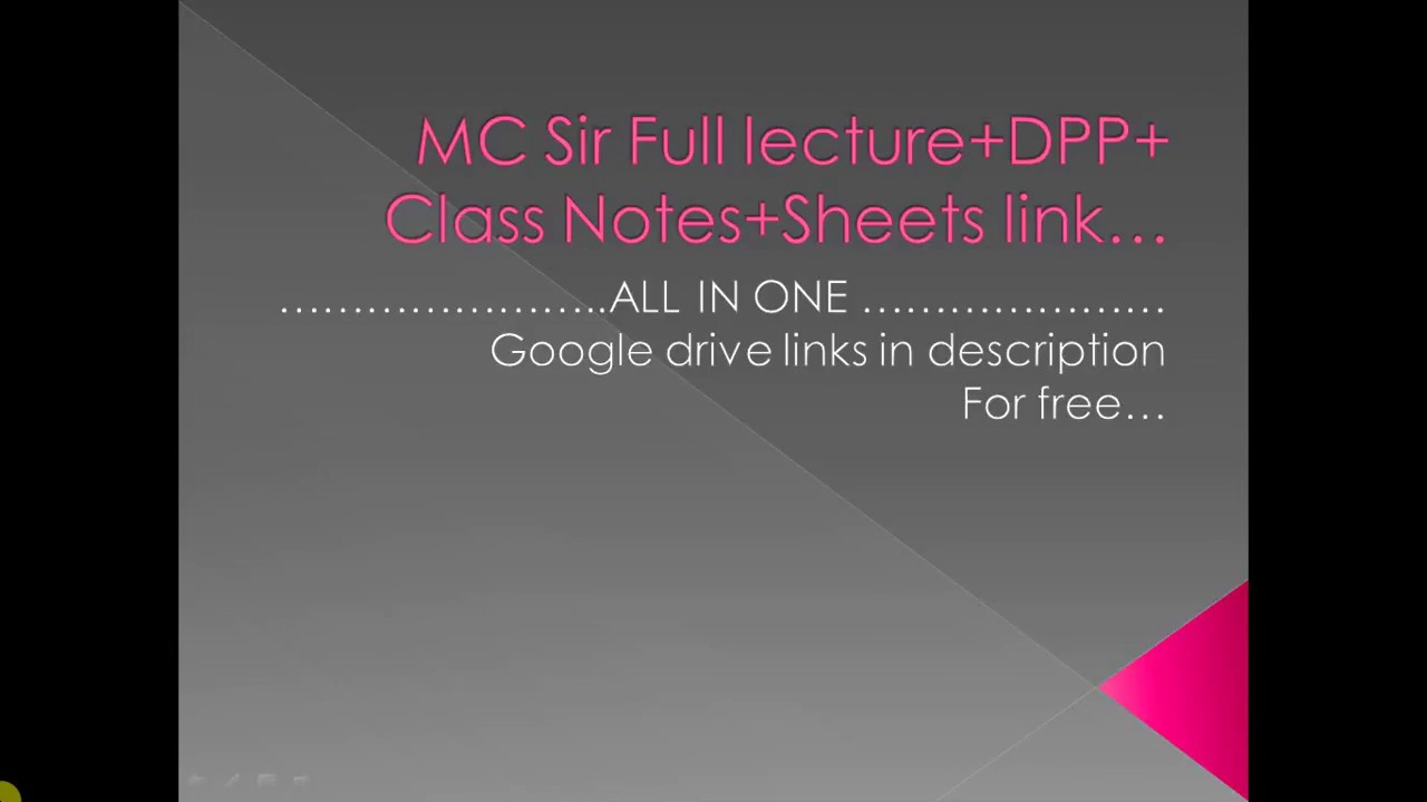 Mc Sir Google Drive Link