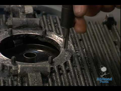 stripped vw oil drain plate stud repairmov youtube