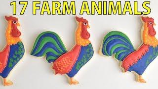 17 BARN FARM ANIMAL COOKIES FOR KIDS by HANIELA