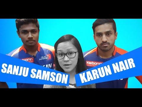 Karun Nair & Sanju Samson's Selfie Intw, Feat. Rahul Dravid