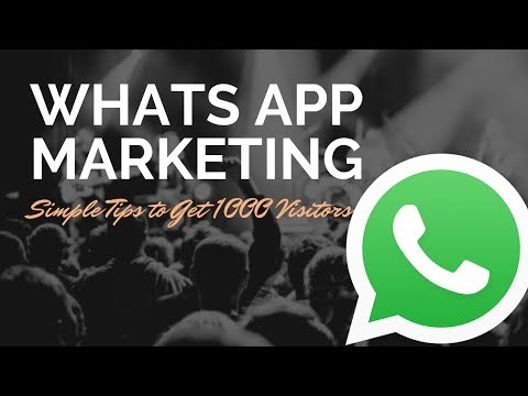 whatsapp marketing | Nikkies Tutorials