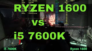 Скачать Ryzen 5 1600 Vs I5 7600k Gaming Rendering Tests